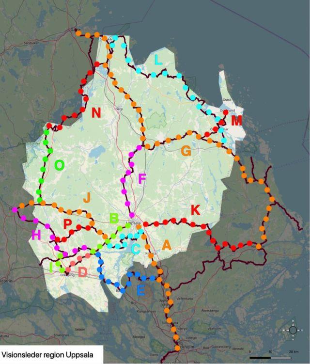 Visionsbild för cykelturism i Uppsala Region klar